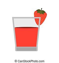 glass of Strawberry juice icon