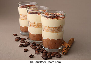 tiramisu - glass of tiramisu