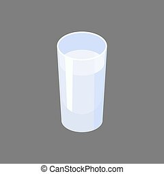 Glass of vodka isolated. Alcohol Vector illustration