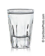glass of vodka isolated on white background