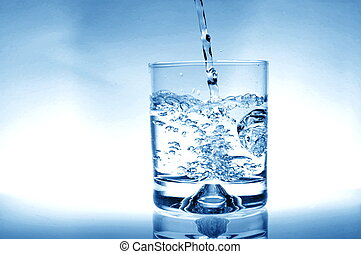 Glass of water - glass of water for refreshment in summer or...