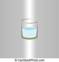 glass of water icon vector logo symbol