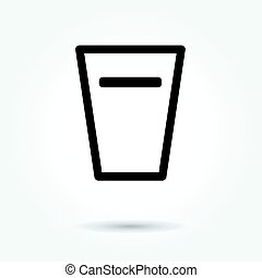 Glass of water icon vector on white background