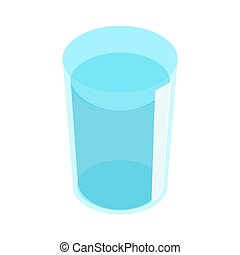 Glass of water on white background. Vector illustration. EPS 10.