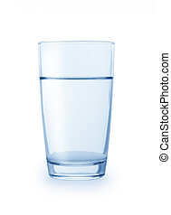 Glass of water - Glass of clean water isolated on a white...