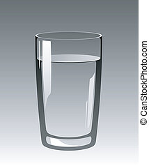 Glass of Water - %u041Flass of water on a gray...