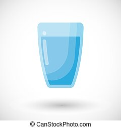 Glass of water vector flat icon