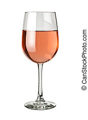 Glass of White Zinfandel isolated on a white background
