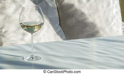 Glass of wine for relaxation