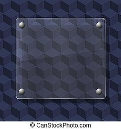 glass on geometric background. Vector illustration