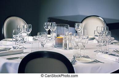 glass on luxury table