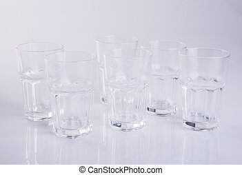 glass or water glass on a background.
