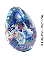 Glass Ornament Against White Background