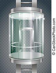 Glass outer elevator - Glass modern elevator cylindrical...