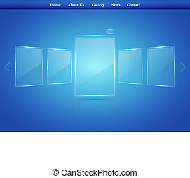 glass Picture Gallery for your website. Vector business ...
