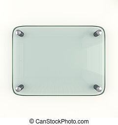 Glass Plate Mockup 3d Illustration