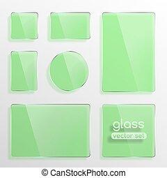 Glass plates set