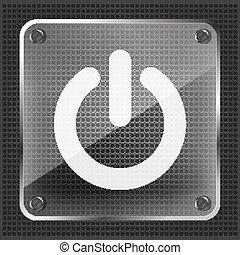 glass power button icon