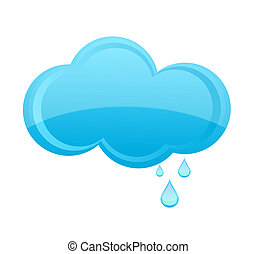 glass rain cloud sign blue color - glass weather rain cloud...