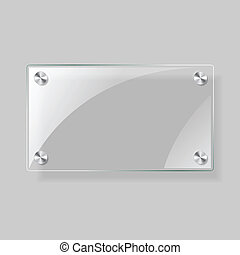 Glass rectangle plane - Glass vector square plane. Easy ...