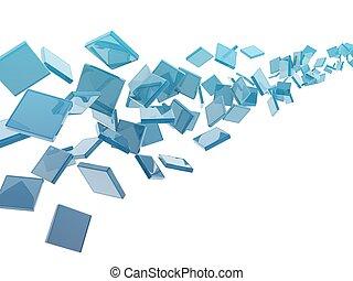 glass rectangles