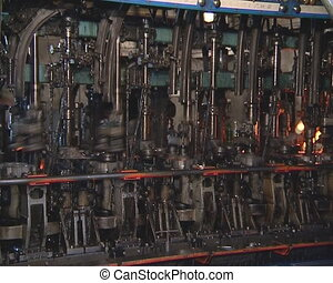 Glass recycling. Bottle manufacture