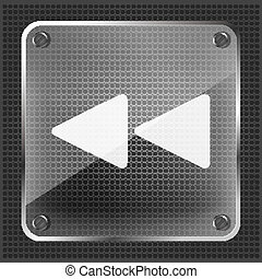 glass rewind icon