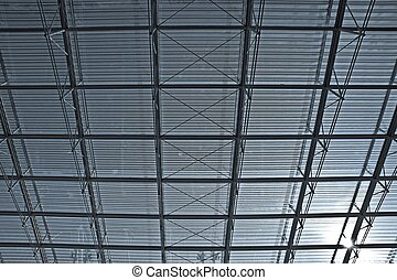 glass roof of a building modern