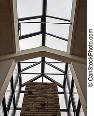 Glass roof of modern building