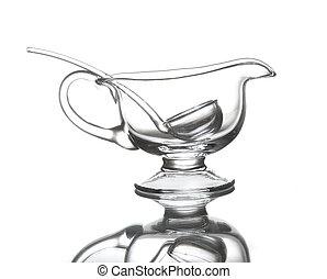 Glass sauce pot