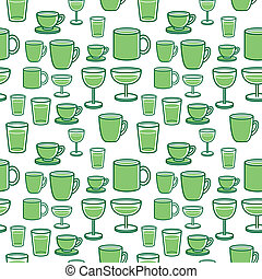 glass seamless pattern