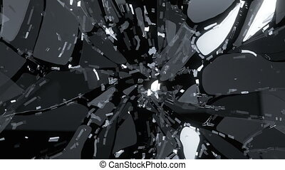 Glass shatter and breaking slowmo