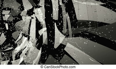Glass shattered with slow motion