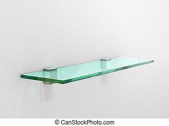 glass shelf. 3d illustration