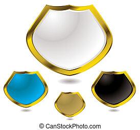 glass shield gold