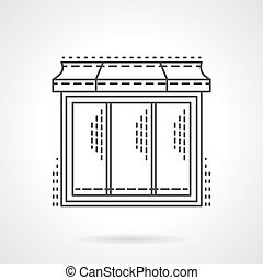 Glass showcase thin line vector icon