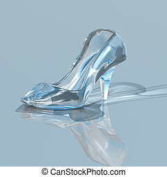 glass slipper - 3d render