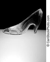 Glass Slipper - an illuminated glass slipper in Black and ...