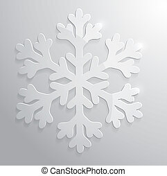 Glass snowflake. Christmas vector illustration