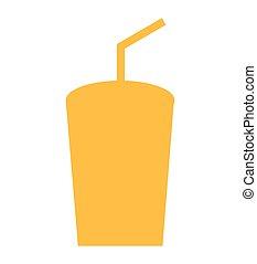 glass soda drink icon