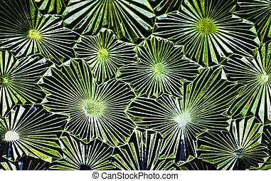 Abstract of pattern glass with a cool shade of green.
