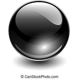 Glass sphere black