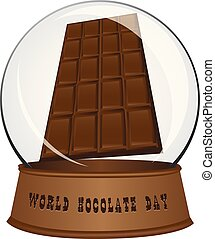 Glass sphere - Chocolate Day