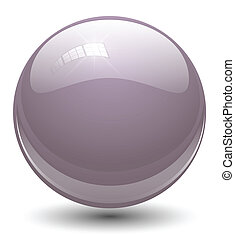 glass sphere - Glass sphere, ball. Vector.