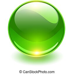 Glass sphere, green