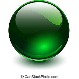 Glass sphere green