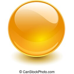 Glass sphere orange