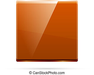 Glass square color plate