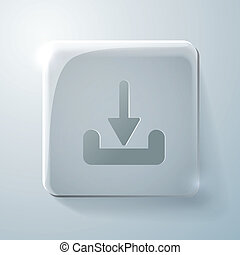 Glass square icon. download
