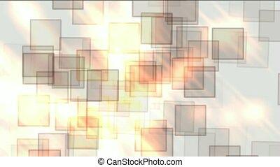 glass square & mosaic debris background,flash fire light.